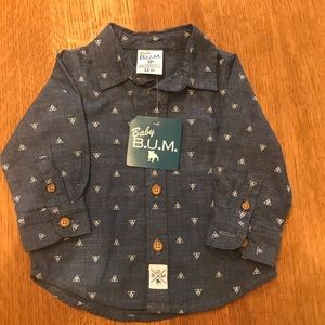 NEW chambray Baby BUM shirt size 12 months